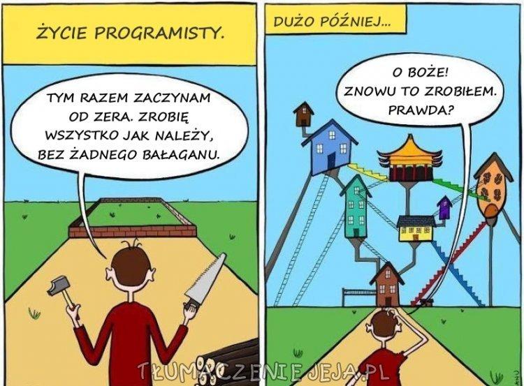 Życie programisty - mimo zaczęcia od zera wyszło skomplikowanie
