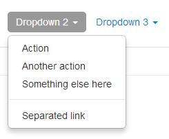 Bootstrap dropdowns menu