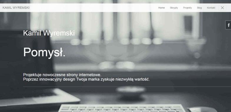 Zrzut ekranu strony wyremski.pl z 2016 roku