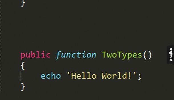 Dwa typy programistów