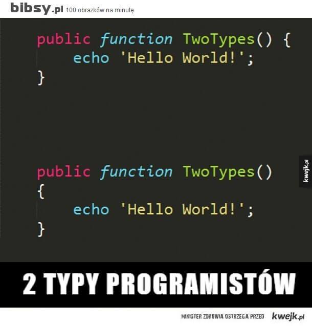 Dwa różne sposoby zapisywania ciała funkcji