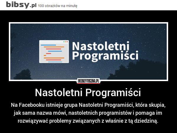 Nastoletni programiści - projekt Facebooka