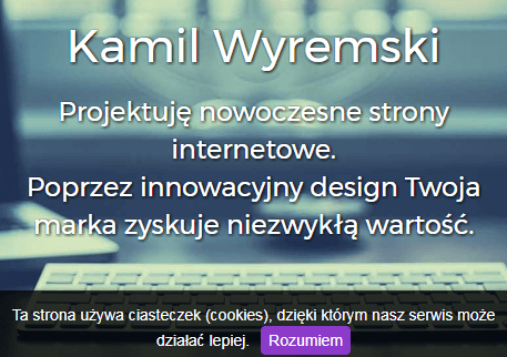 Zrzut ekranu strony wyremski.pl