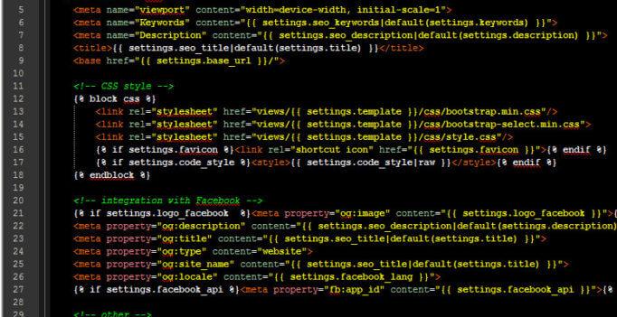Fragment kodu HTML
