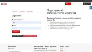 Skrypt ogłoszeń motoryzacyjnych MotoNotice